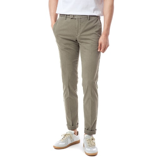 Connection. Skinny fit. Washed Crop Chino Pants (Brown)