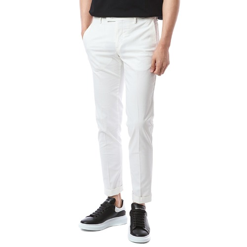 Connection. Skinny fit. Washed Crop Chino Pants (Ivory)