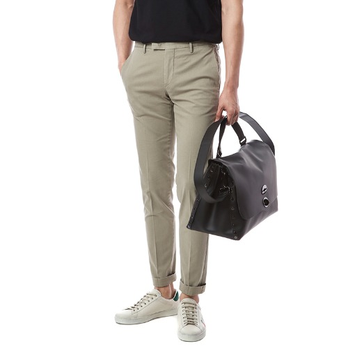 Connection. Skinny fit. Washed Crop Chino Pants (Beige)