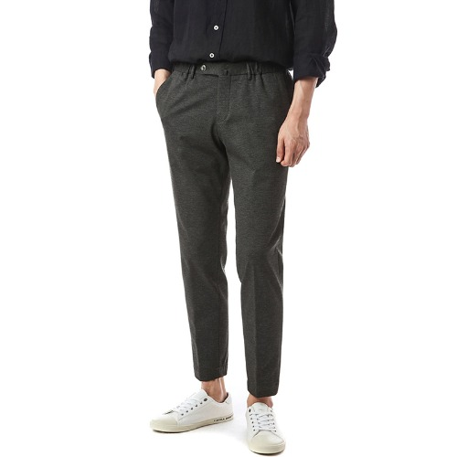 Travel. Sharp Fit. Banding Viscosa Slacks (DarkGray)