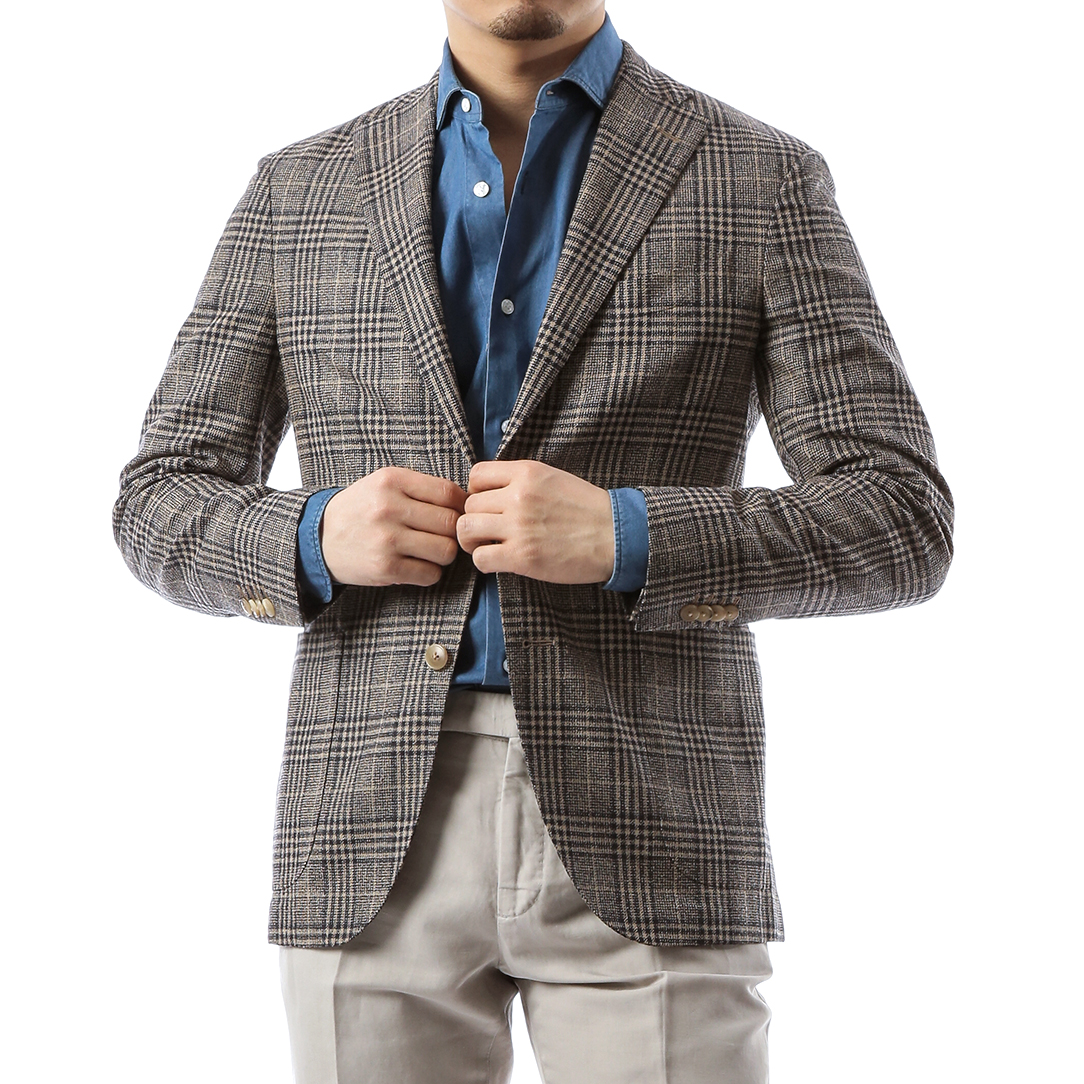 Brown Glen Check Jacket