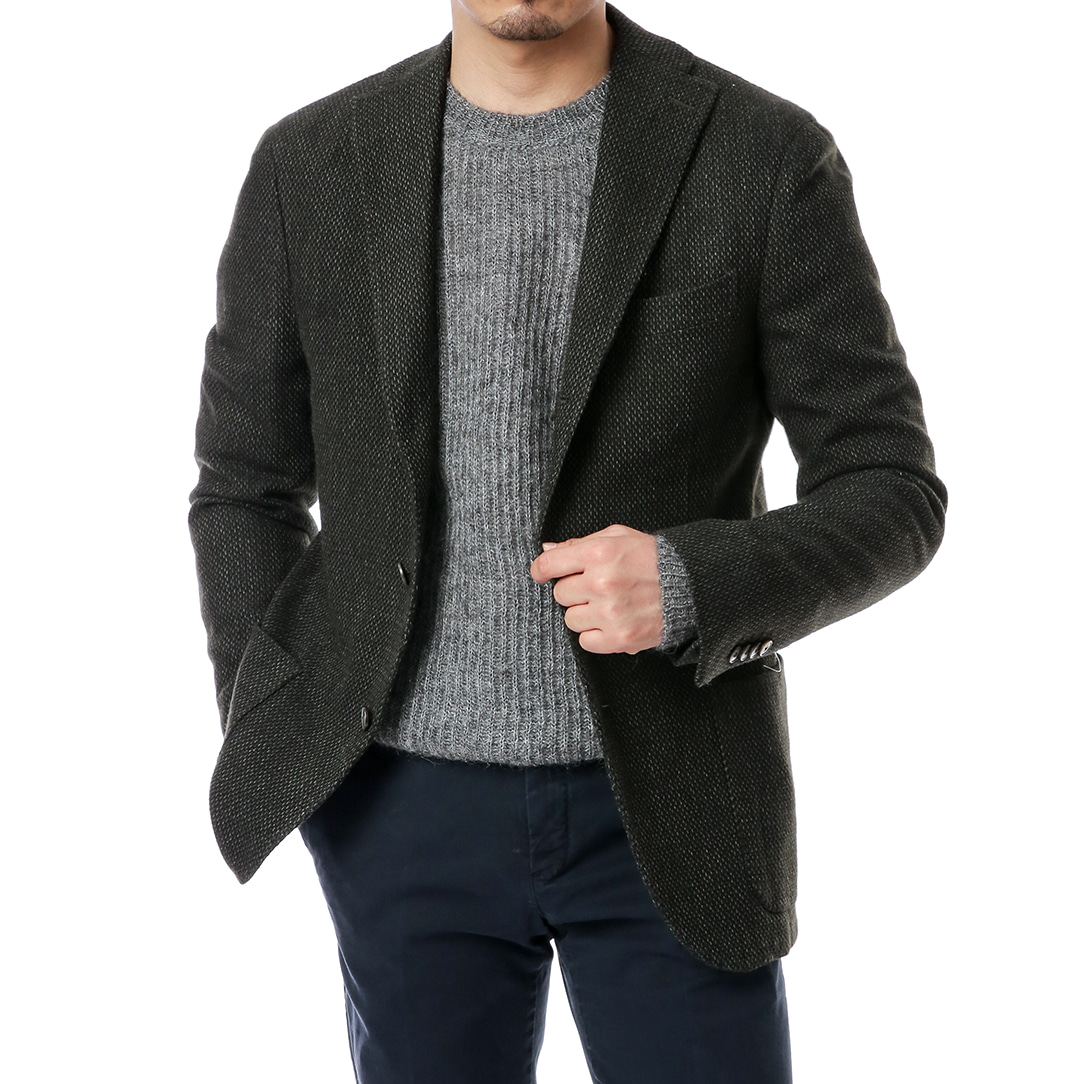 Khaki Fancy Tweed Jacket