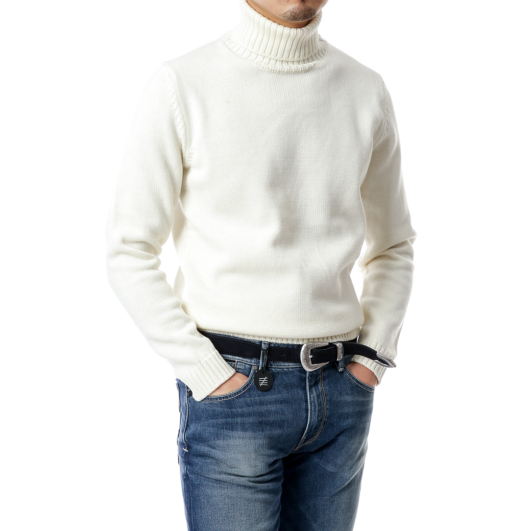 Ivory Plain Row Turtleneck