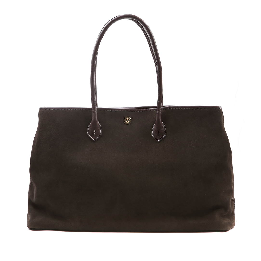 Dark brown Suede Tote bag